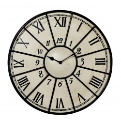Bisoi Industrial Style Metal Clock, white background