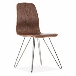 Ford Wooden Hairpin Dining Chair Front Angled View