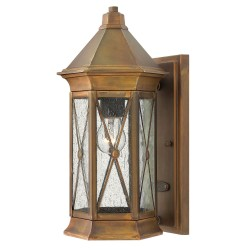 Talpa Brass Wall Lantern - Small