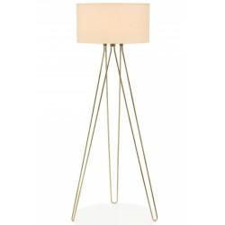 Jessie Hairpin Tripod Floor Lamp Brass Front View