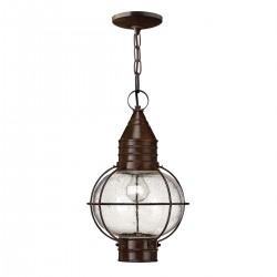 Cuero Outside Bronze Chain Lantern