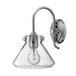 Noxen Cone Glass Wall Light Chrome