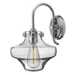 Noxen Clear Glass Wall Light chrome