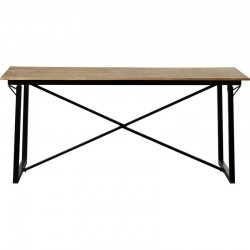 Kinver Industrial Dining Table, white background