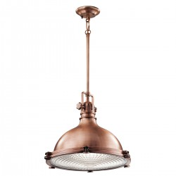 Medford Industrial Style Extra Large  Pendant Light Copper