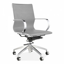 Hudson Office Chair Short Back - Grey