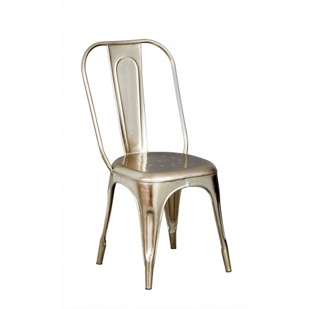 Kinver industrial silver chair, white background