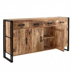 Kinver Industrial Extra Large Sideboard, white background