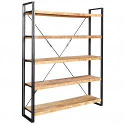 Kinver Industrial Large Open Bookcase, white background