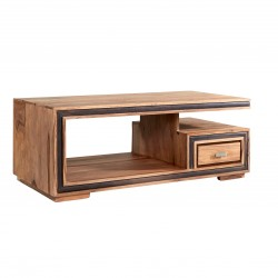 Ambur Coffee Table With Drawer, white background