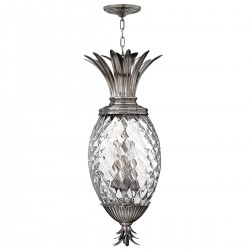 Parksville Glass 4 Light Pendant Nickel