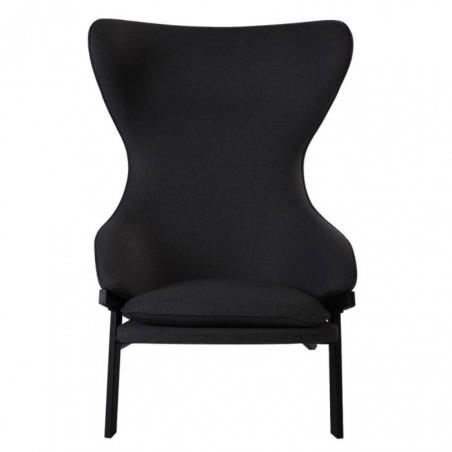Kilvo Lounge Chair Black Front View