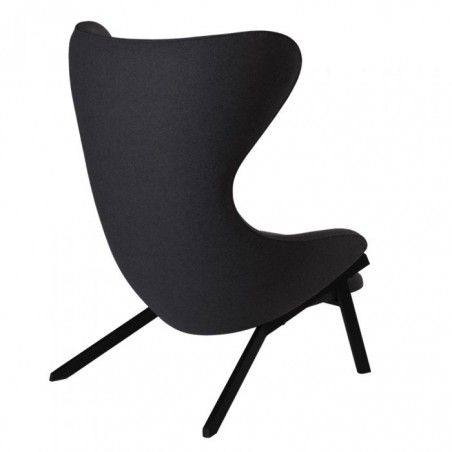 Kilvo Lounge Chair Black Angled Rear View