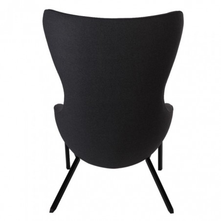 Kilvo Lounge Chair Black Rear View
