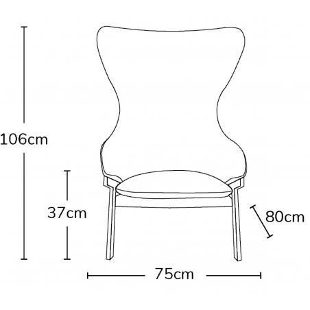 Kilvo Lounge Chair Dimensions