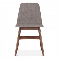 Amini Upholstered Dining Chair Seat Cool Grey Front view