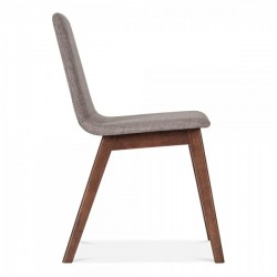 Amini Upholstered Dining Chair Seat Cool Grey Side view