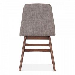 Amini Upholstered Dining Chair Seat Cool Grey Rear view