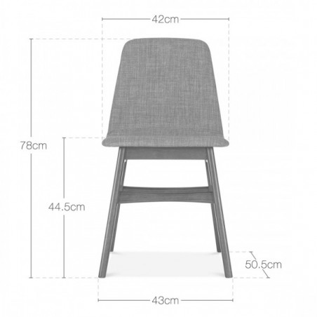Amini Upholstered Dining Chair Seat Dimensions