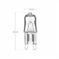 Halogen Capsule Light Bulb G9 25W Dimensions