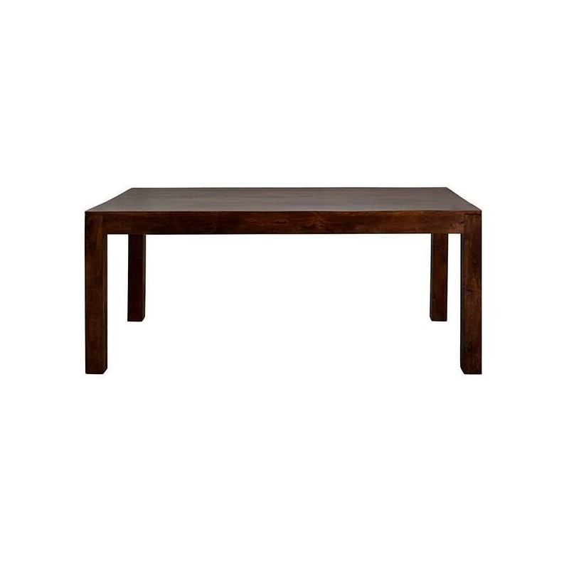 Indore Dark Mango Large Dining Table, white background