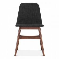 Amini Upholstered Dining Chair Dark Grey front