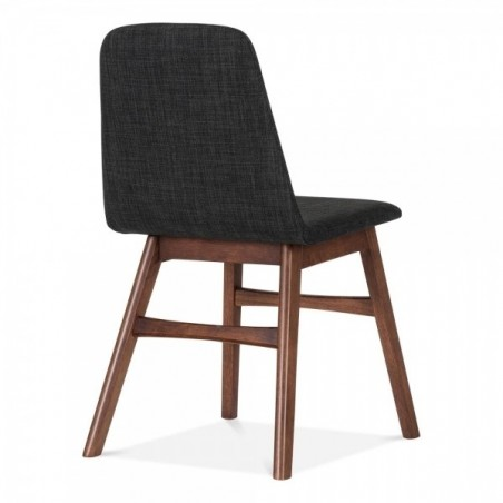Amini Upholstered Dining Chair Dark Grey rear