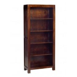 Indore Dark Mango Large Open Bookcase, white background