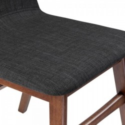 Amini Upholstered Dining Chair Dark Grey seat