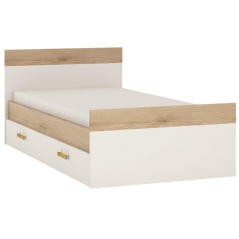 Single Bed With Under Draw With Orange Handlesari