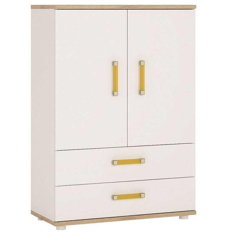 An image of Ari 2 Door 2 Drawer Cabinet - Orange
