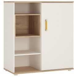 Ari Low Cabinet with shelves (sliding door), with orange handles