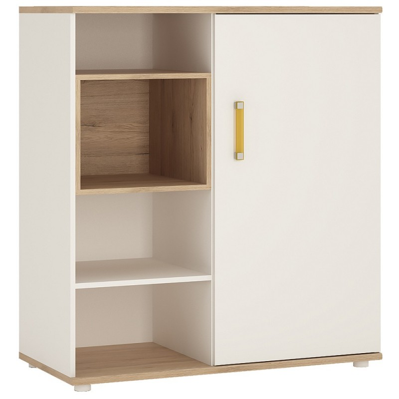An image of Ari Low Cabinet with shelves (sliding door) - Lemon