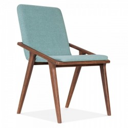 Turbo Upholstered Dining Chair Soft Teal front