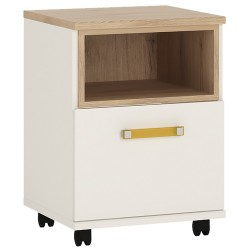 Ari 1 Door Mobile Desk with orange handles