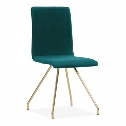 Garrett Velvet Upholstered Dining Chair - Teal