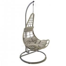 Atwick Grey Rattan Swing Chair
