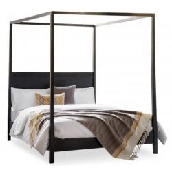 Laggan Kingsize 4 Poster Bed - Solid Mango Wood - Black