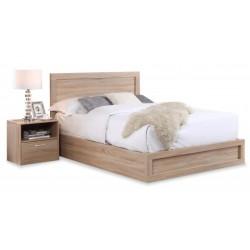 Overton Storage Bed- Oak Finish