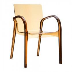 Allonby Modern Garden Armchair Amber Transparent