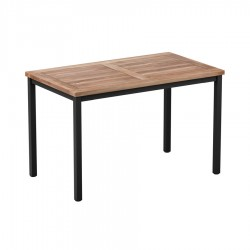 Cambria Wood & Metal Rectangular Table Teak Top