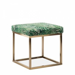 Miami Square Low Stool Fabric Upholstered