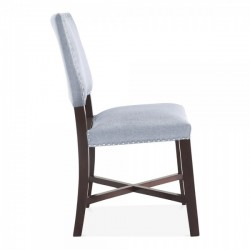 Della Dining Chair Light Blue Side view
