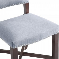 Della Dining Chair Light Blue Seat view
