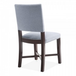 Della Dining Chair Light Blue Rear view
