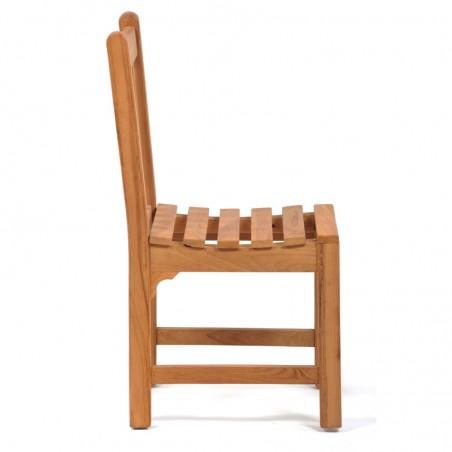 Berkeley Teak Garden Side Chair Side View