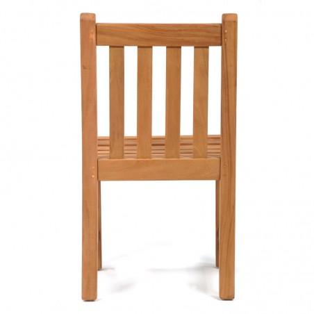 Berkeley Teak Garden Side Chair Rear View