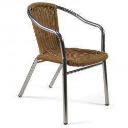 Sunol Aluminium / Wicker Effect Garden Chair