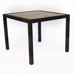 Chico PE Rattan/Plaswood Square Table