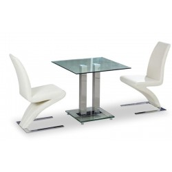 Sergio Two Person Dining Set White background